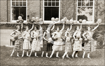 Royalty Free Photo of a Group of Cheerleaders