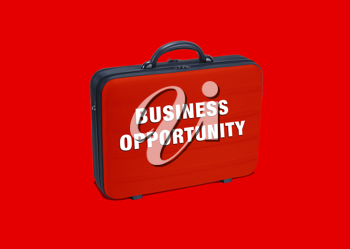Royalty Free Photo of a Briefcase with the Words Business Opportunity