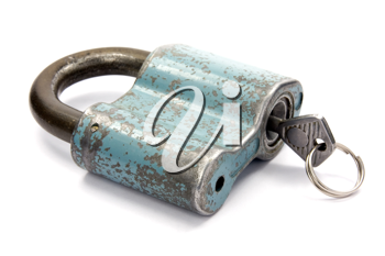 Royalty Free Photo of a Padlock and Key