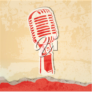Royalty Free Clipart Image of a Microphone