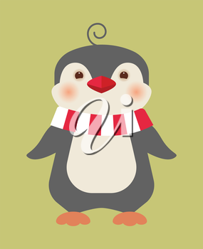 Merry Christmas penguin - greeting card