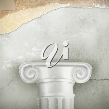Column, vintage background