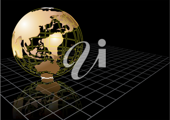 background with abstract earth globe. 10 EPS
