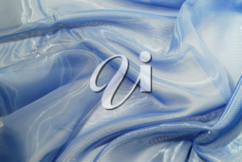 Blue wrinkled fabric background