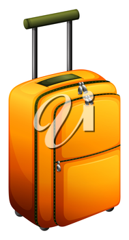 Illustration of an orange baggage on a white background