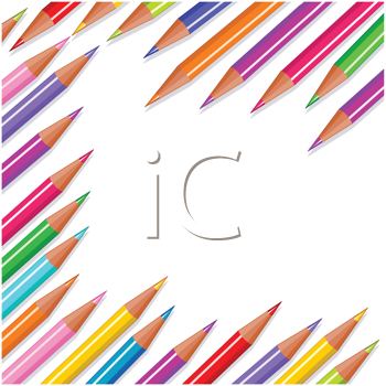 Royalty Free Clipart Image of Coloured Pencils