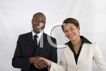 Royalty Free Photo of Businesspeople Shaking Hands