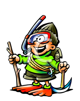 Royalty Free Clipart Image of a Person in Activity Attire