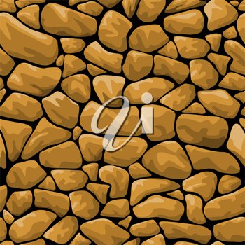 Seamless brown stone background for design and decorate