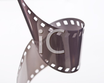 Royalty Free Photo of a Spiral 35 mm Filmstrip