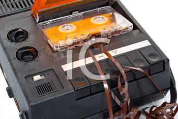 Royalty Free Photo of a Magnetic Audio Tape Cassette Recorder