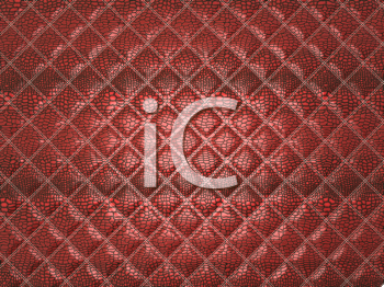 Royalty Free Clipart Image of Red Alligator Stitched Skin