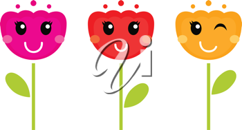 Royalty Free Clipart Image of Tulips