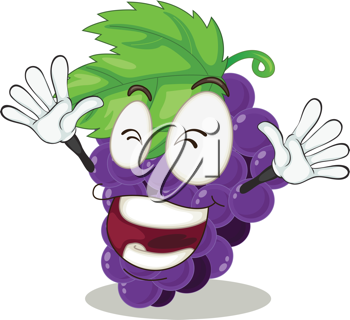 illustration of grapes on a white background