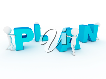 Royalty Free Clipart Image of a Building Plan Word