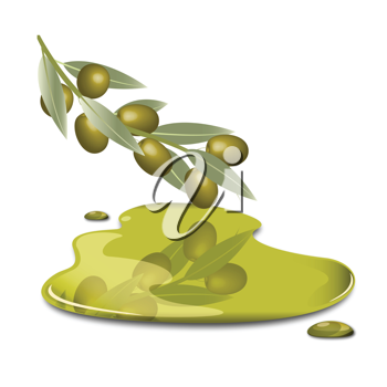 Royalty Free Clipart Image of a Branch of Olives