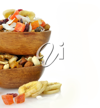 Royalty Free Photo of Bowls of Nuts and Fruits