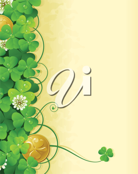 Royalty Free Clipart Image of a St Patrick's Day Background