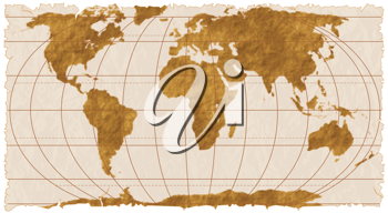 Royalty Free Clipart Image of a World Map