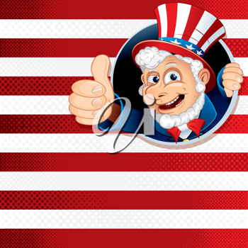 Cheering Uncle Sam's, American Theme Background