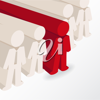 businessman stands out. conceptual illustration in vector format