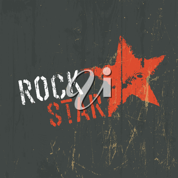 Rock Star Illustration. Vector