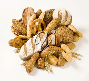 Various kinds of fresh bread