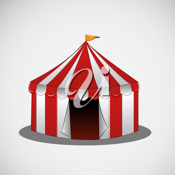 Vector circus tent on a bright background.